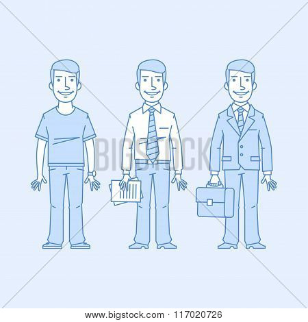 Businessman in different versions