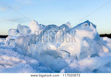 The ice of Baikal lake