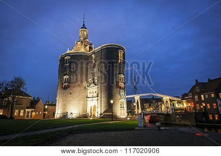 Historic City Gate of Enkhuizen, The Netherlands