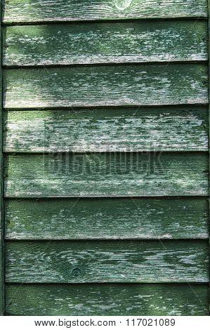 Shabby green door
