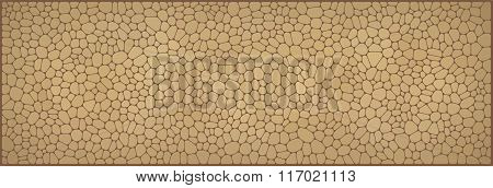 Vector Illustration - Beige Abstract Mosaic Stone Banner