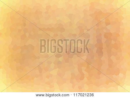Vector Illustration - Mosaic Beige Polygon Abstract Background