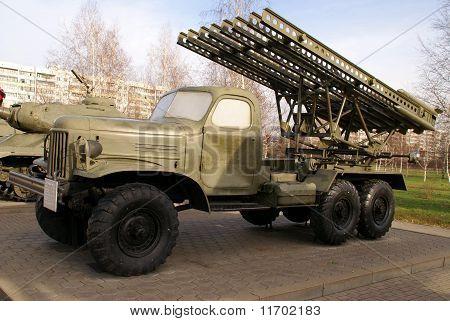 Katyusha multiple rocket launcher BM-13