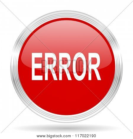 error red glossy circle modern web icon on white background