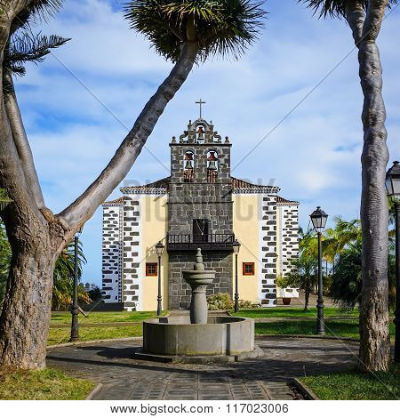 Catholic Church Of St. John The Baptist In Puntallana, La Palma, Spain