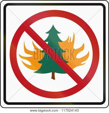 Road Sign Used In The Us State Of Washington - Danger Of Forest Fires