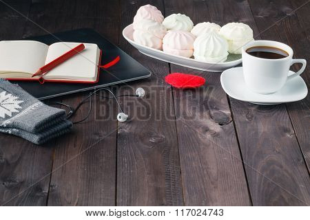 Eating Marshmallow At Night While Using Computer