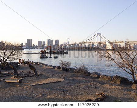 Rainbow Bridge And Tokyo Bay, Odaiba