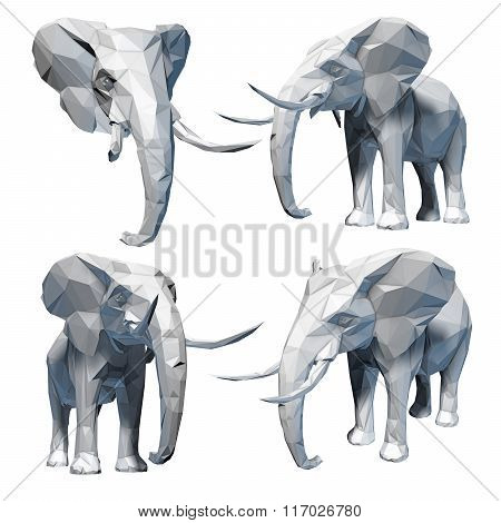 Faceted elephant set