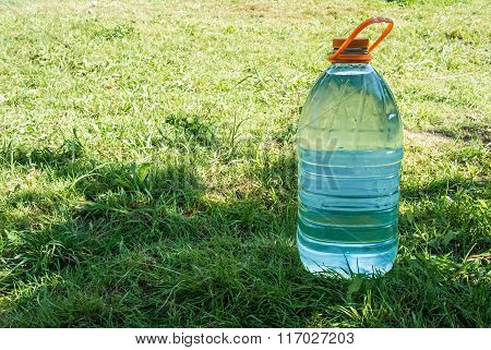 Water Bottle On Green Grass