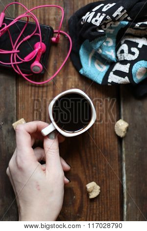 coffee, hot , black, cup