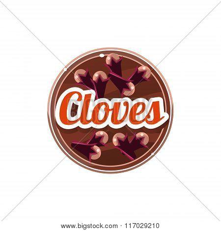 Cloves Spice. Vector Illustration.