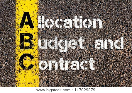 Acronym Abc Allocation, Budget, And Contract