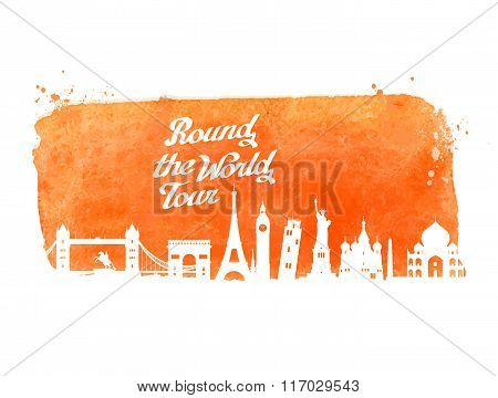 travel vector logo design template. journey or tour, trip icon