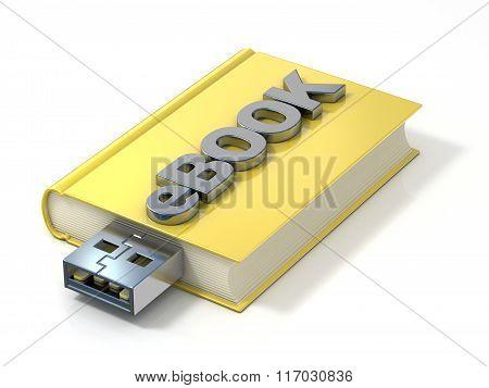 eBook with USB plug. 3D