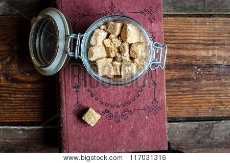 brown sugar, crystals , cube , culinary ,