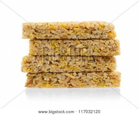 Muesli Bar With Apple, Nuts And Sugar