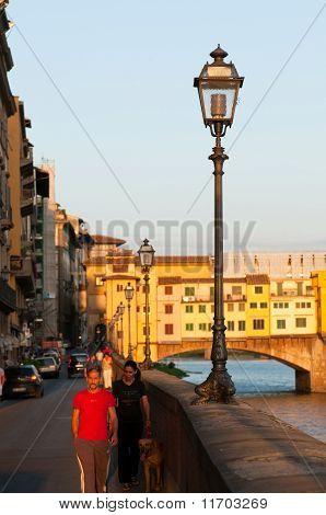 Bank near the Ponte Vecchio (