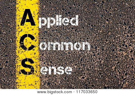 Business Acronym Acs Applied Common Sense