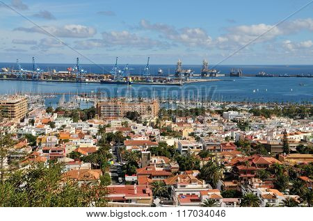 Las Palmas De Gran Canaria And Harbor