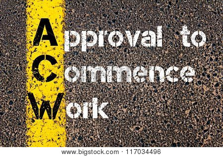 Business Acronym Acw Approval To Commence Work