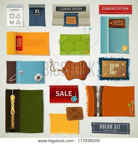 Textile Labels Set