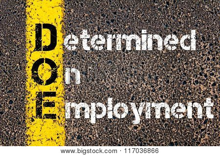 Business Acronym Doe Determined On Employment