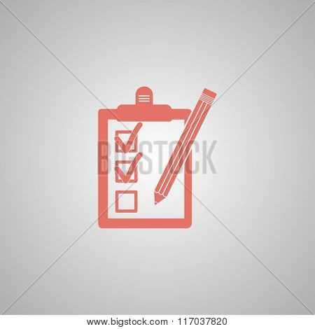 Pictograph Of Checklist