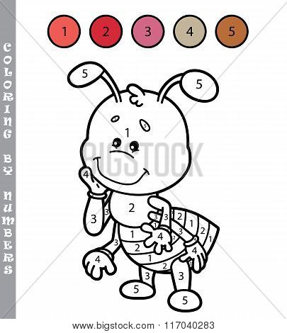 Coloring by numbers ant