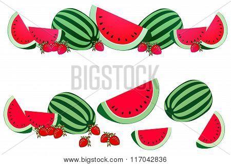 Watermelon Border Element