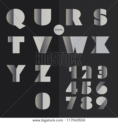 Art Deco Font Set - Vintage Vector Design. Retro Typography.