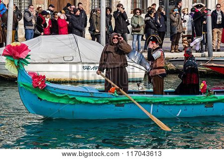 Opening Carnival Procession At Venice, Italy 11