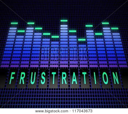 Frustration Levels Concept.