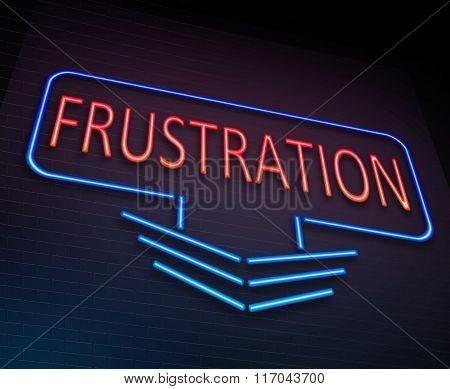 Frustration Sign Concept.