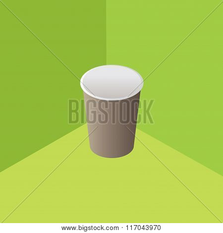 Vector illustration with the image of disposable cups for water, drink.