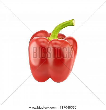 Red Pepper Isolated On White Background. Healthy Food Concept