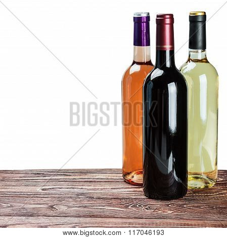 Bottles Of Wine Of Different Sort