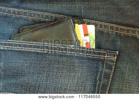 Wallet In Jeans Pocket