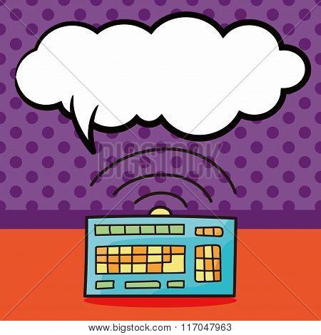 Computer Keyboard Doodle
