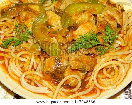pasta with meat