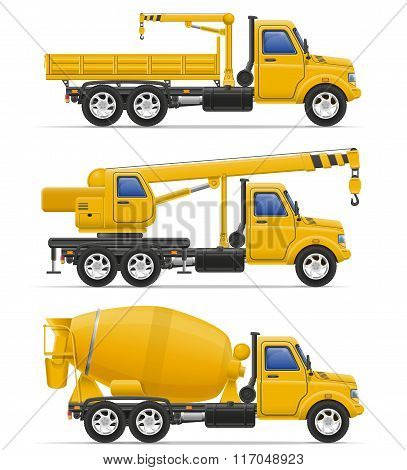 Cargo Trucks Intended For Construction Vector Illustration