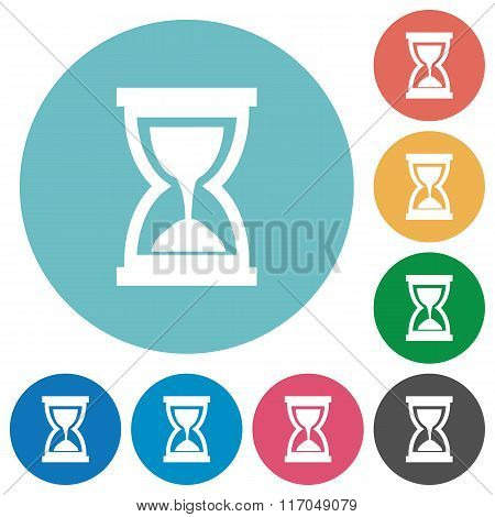 Flat Hourglass Icons