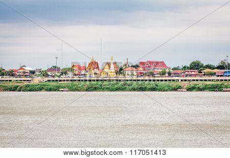 Mekong River view from Laos border