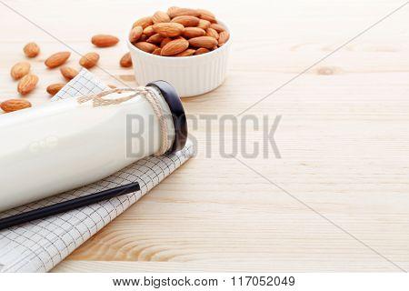 Almond Milk Background
