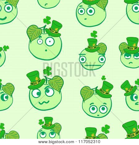 Seamless apples of a St. Patrick's Day