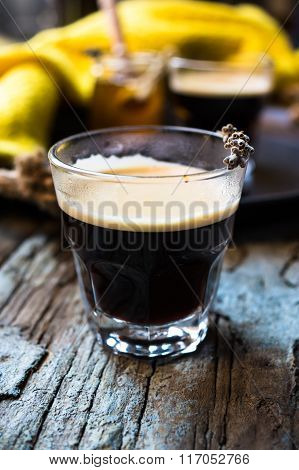 Glass Of Espresso Coffee