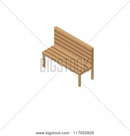 Isometric bench on a white background.