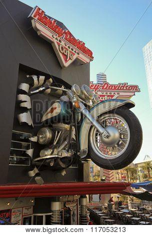 A Harley Davidson Las Vegas Cafe Shot