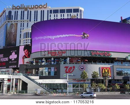 A Morning Harmon And Las Vegas Blvd Shot