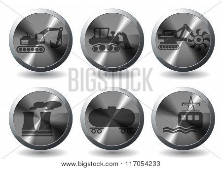 Industrial simply icons